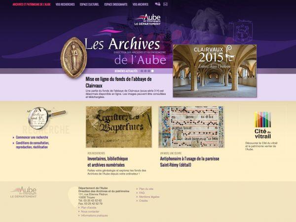 Accueil des Archives d�partementales de l'Aube