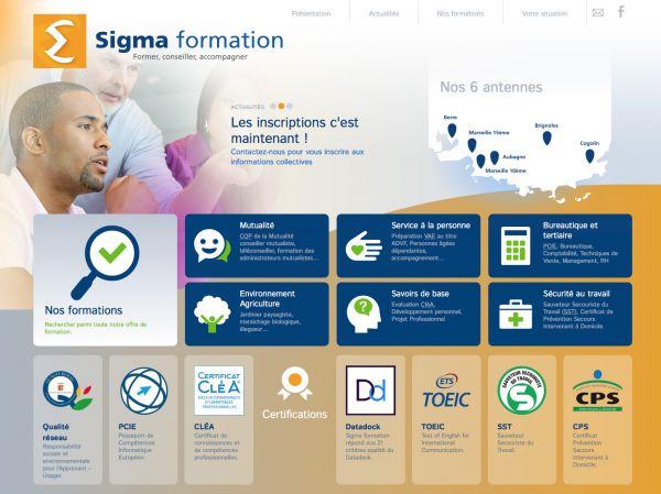 Accueil du site Sigma formation