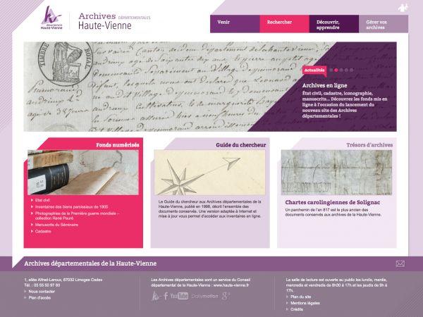 Archives d�partementales de la Haute-Vienne