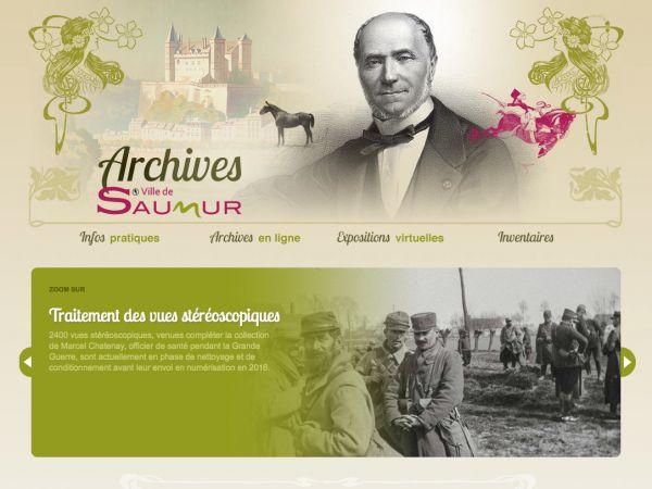 Accueil des Archives de la ville de Saumur