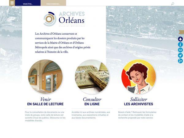 Accueil des archives d'Orléans