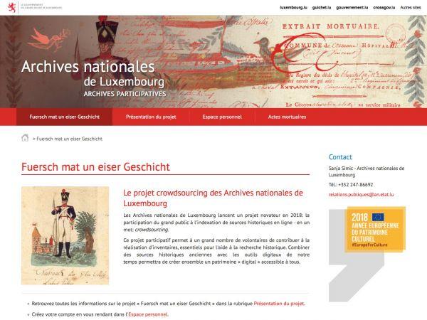 Accueil des Archives nationales de Luxembourg