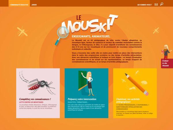 Page d'accueil du Mouskit